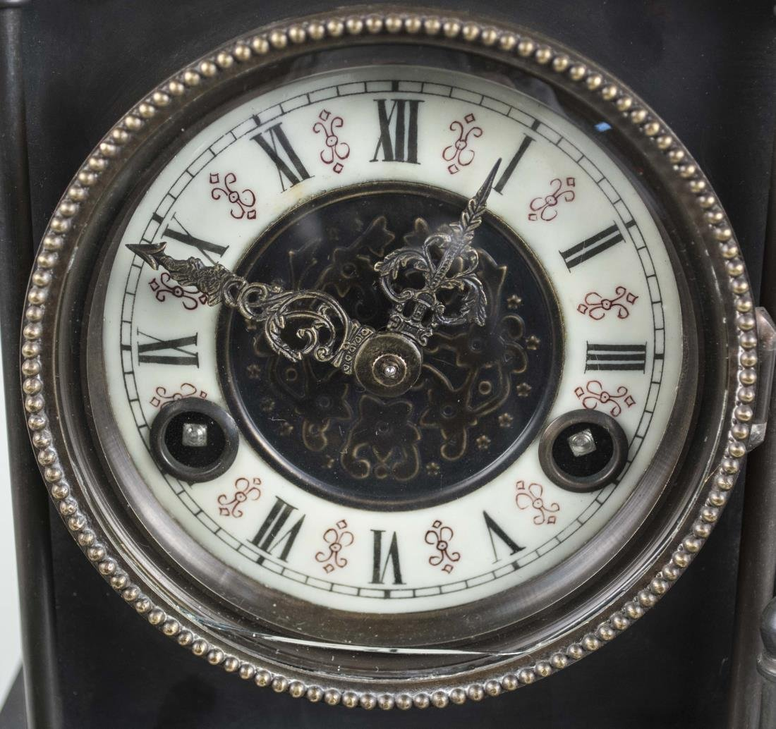 Bronze Train Clock and Weather Station - 2