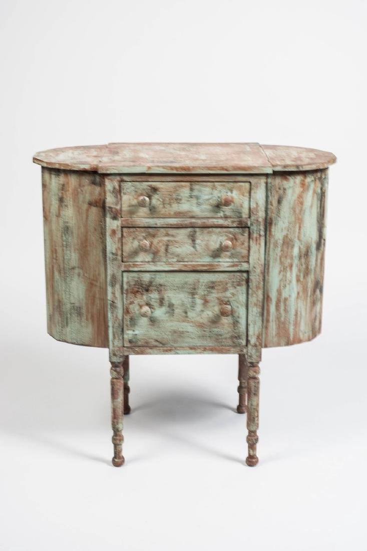 Martha Washington Painted Sewing Table