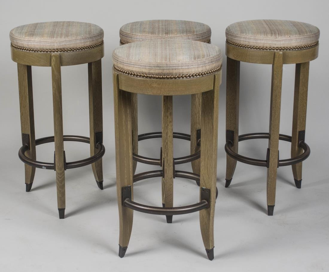 Set of Four Ruhlman Style  Bar Stools