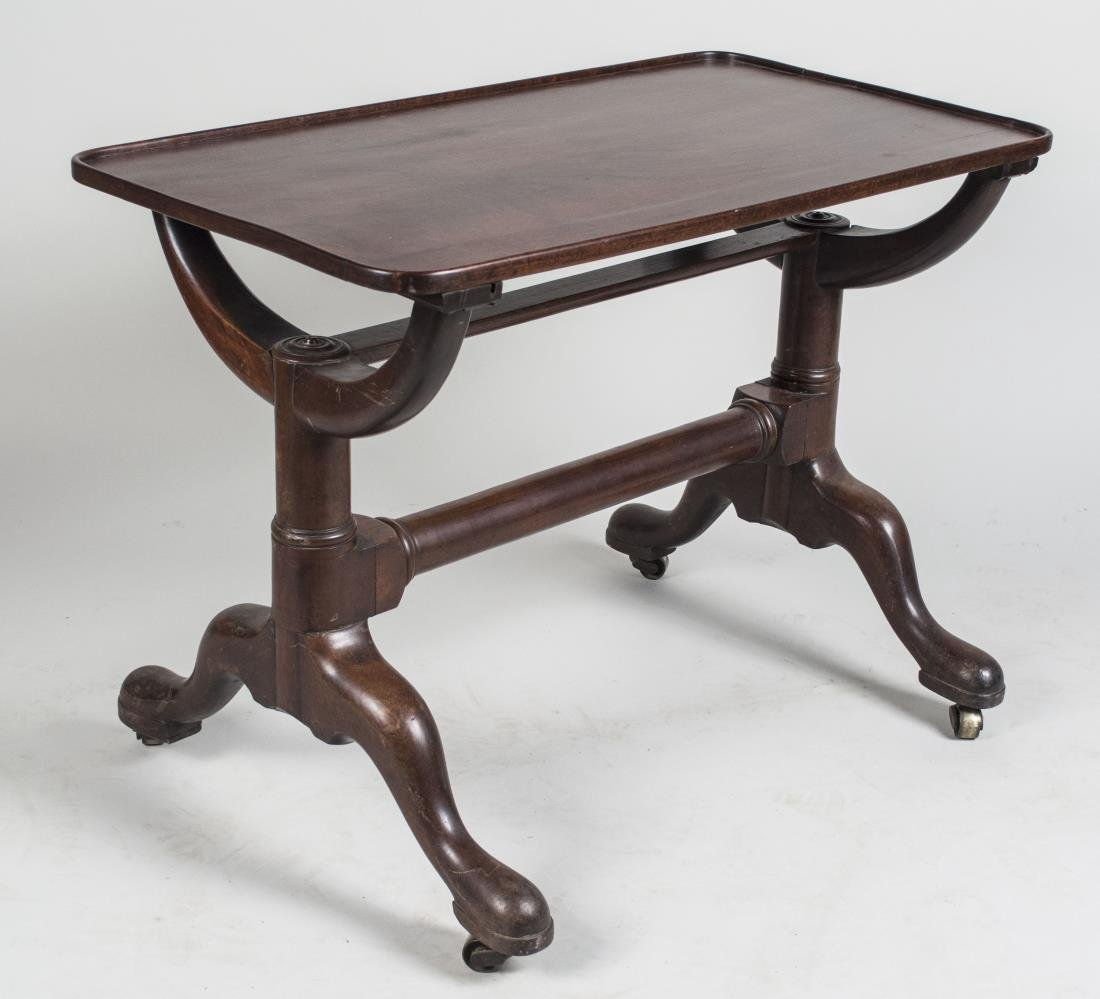 Walnut Trestle Base Table - 2