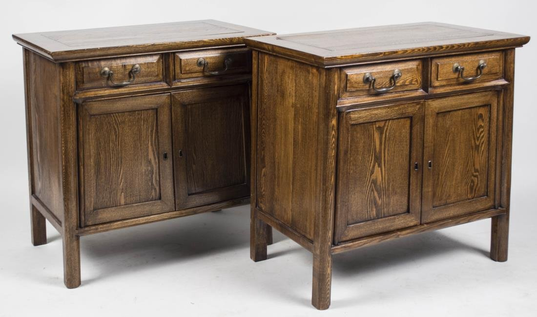 Pair of Provincial Style Side Cabinets