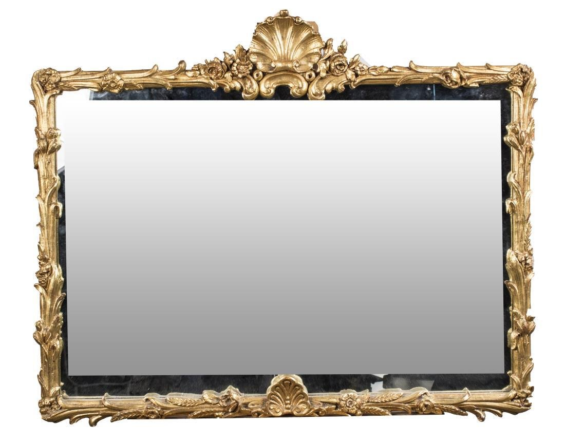 Rococo Style Gilt Wood Mirror