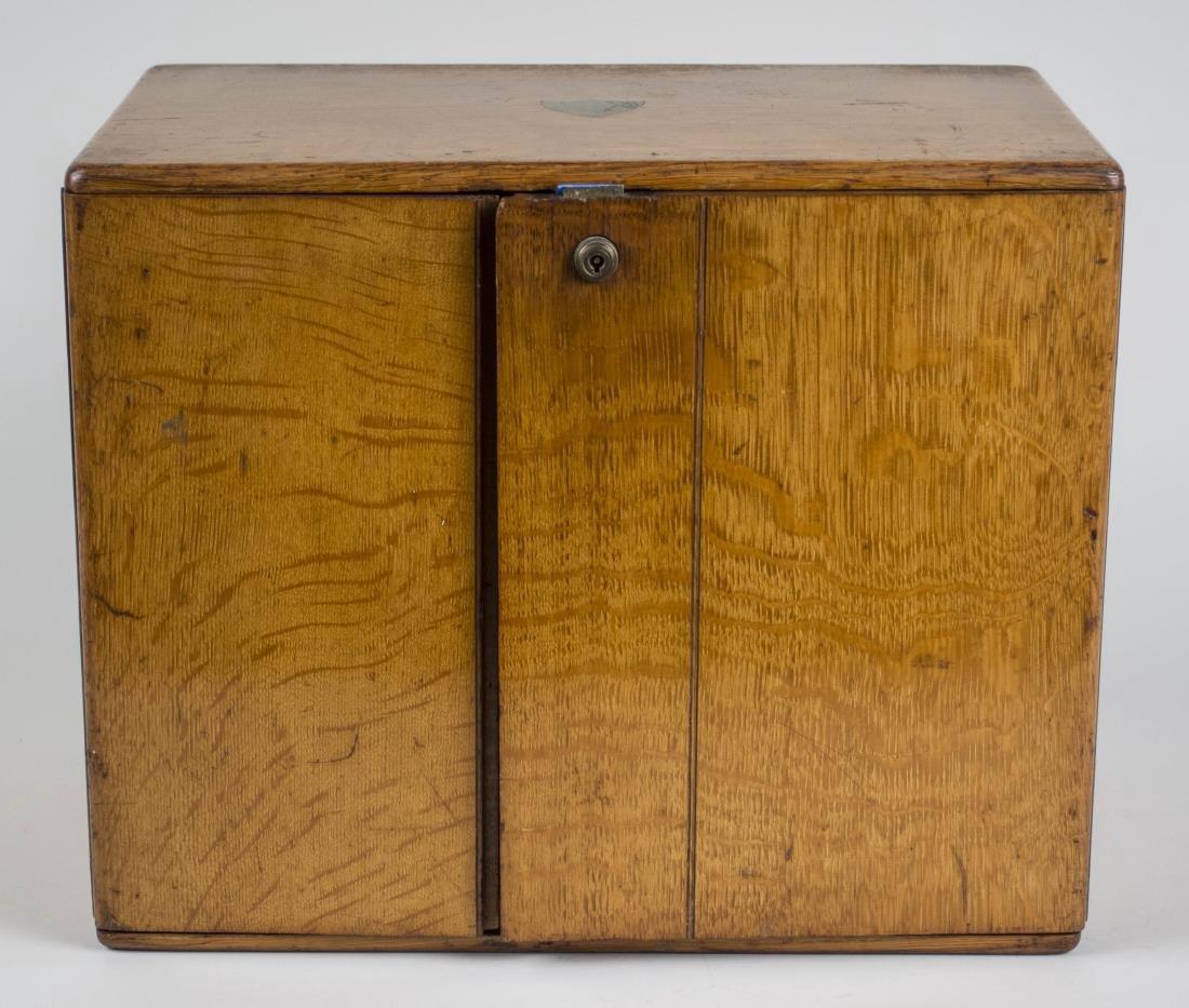 Victorian Oak Storage Box