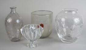 Group of Three Glass Vases