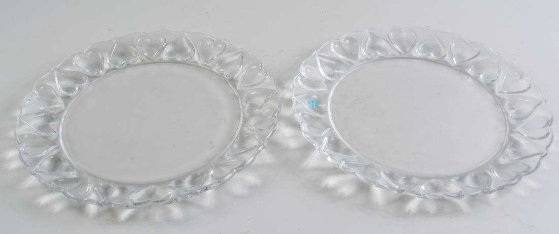 Two Tiffany & Co. Glass Serving Plates