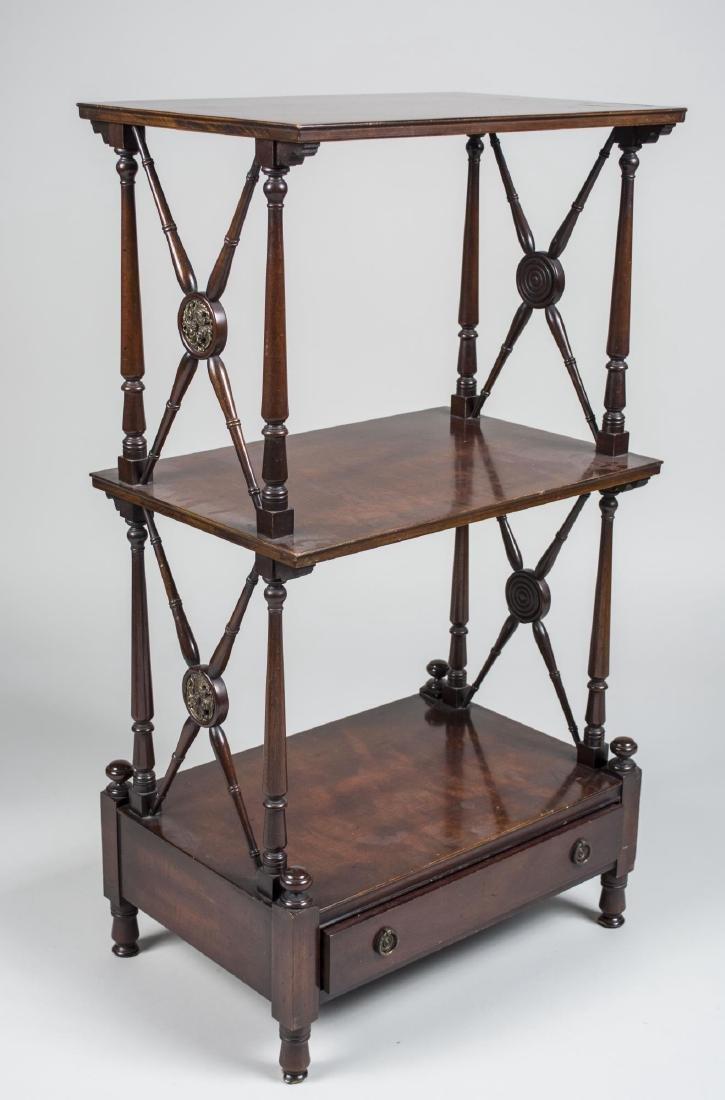 Victorian Style Mahogany Etagere