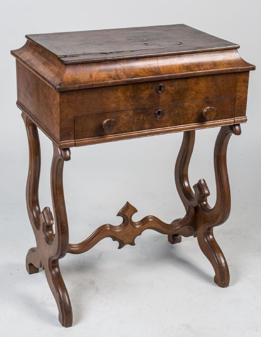 Walnut Sewing Stand
