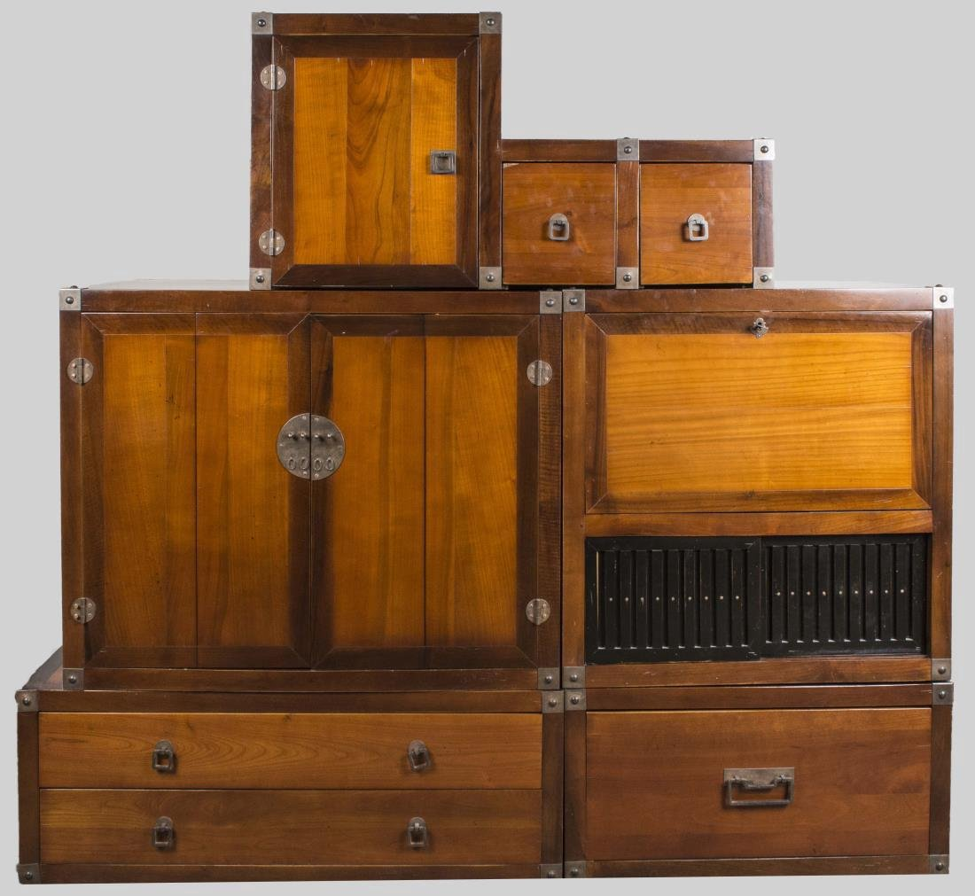 Asian Style Five Part Cabinet