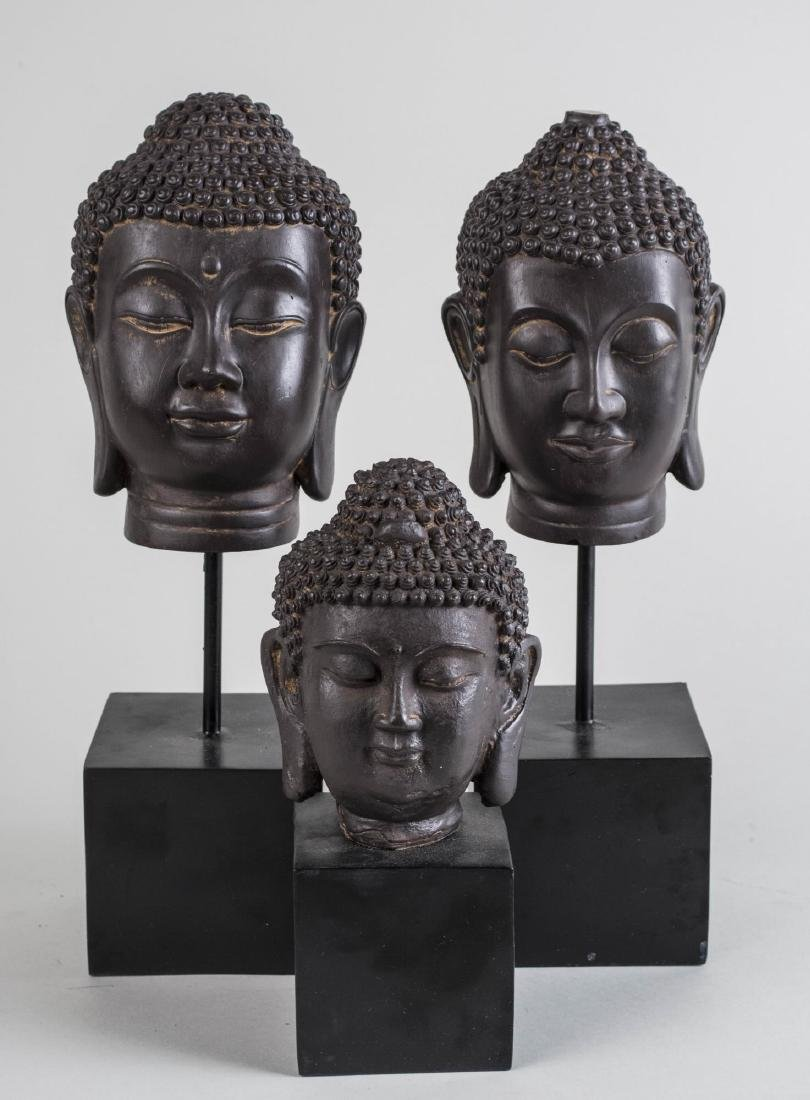 Three Composite Buddha Heads