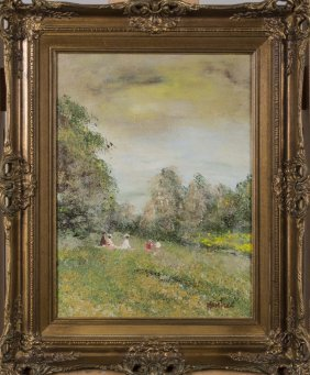 Painting of Girls in a Field