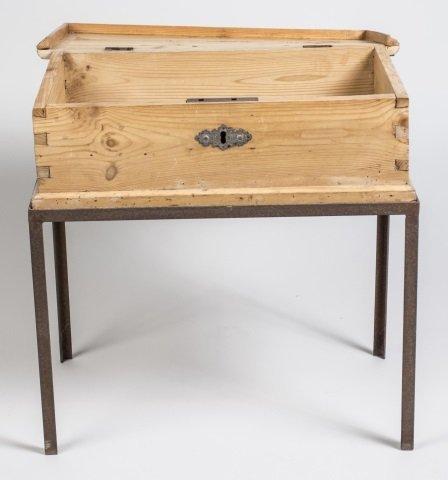 Pine Storage Box on Stand - 2