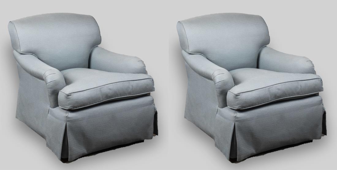 Pair George Smith Club Chairs