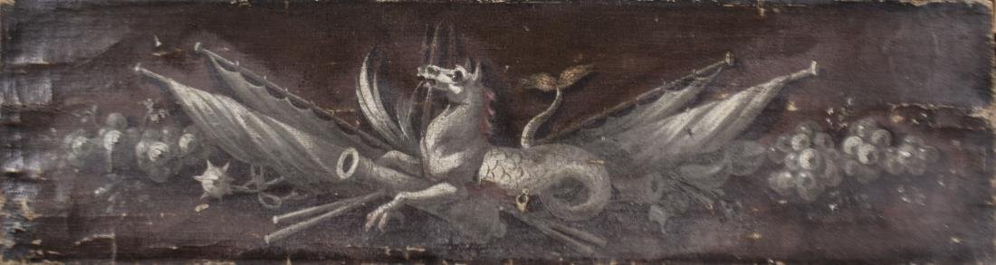 Military Style Painting Crest with Dragon