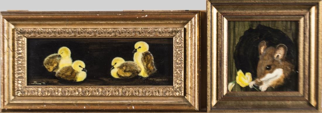 Two Paintings of Cute Animals