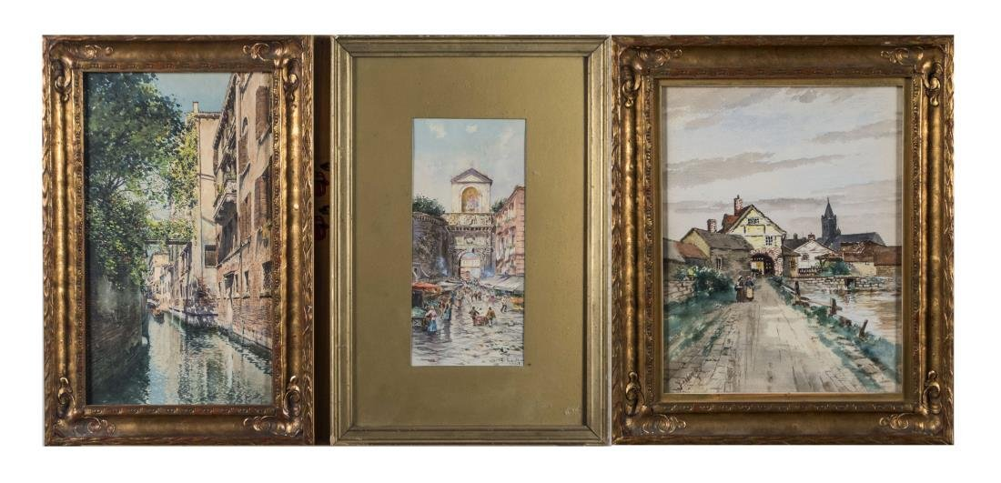Three Continental Watercolors