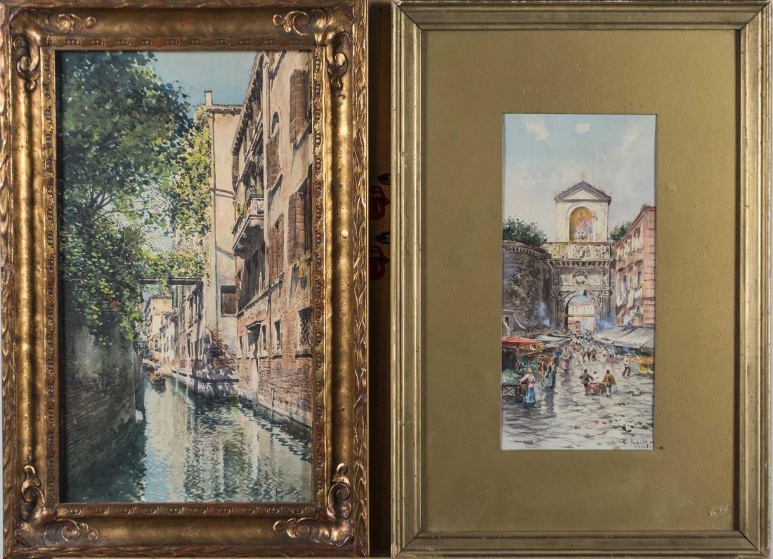 Three Continental Watercolors - 2