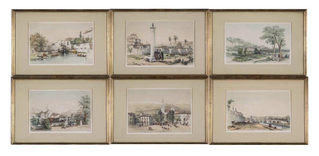 Six Framed 19th Century Spanish Engravings