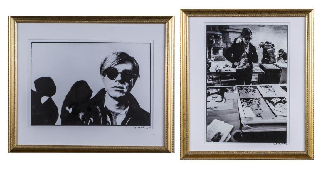 Nat Finkelstein, Pair of Photographs of Warhol