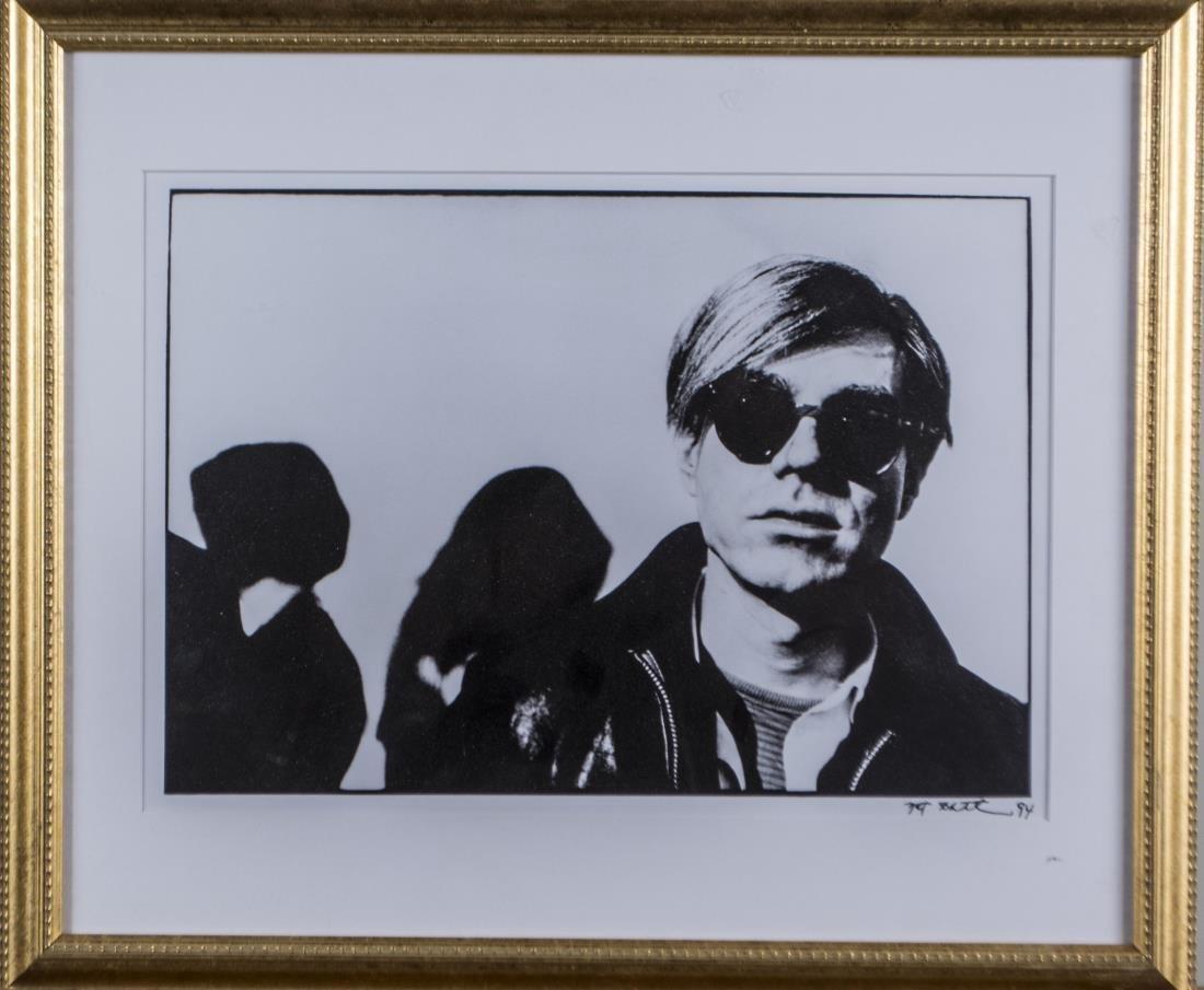 Nat Finkelstein, Pair of Photographs of Warhol - 2