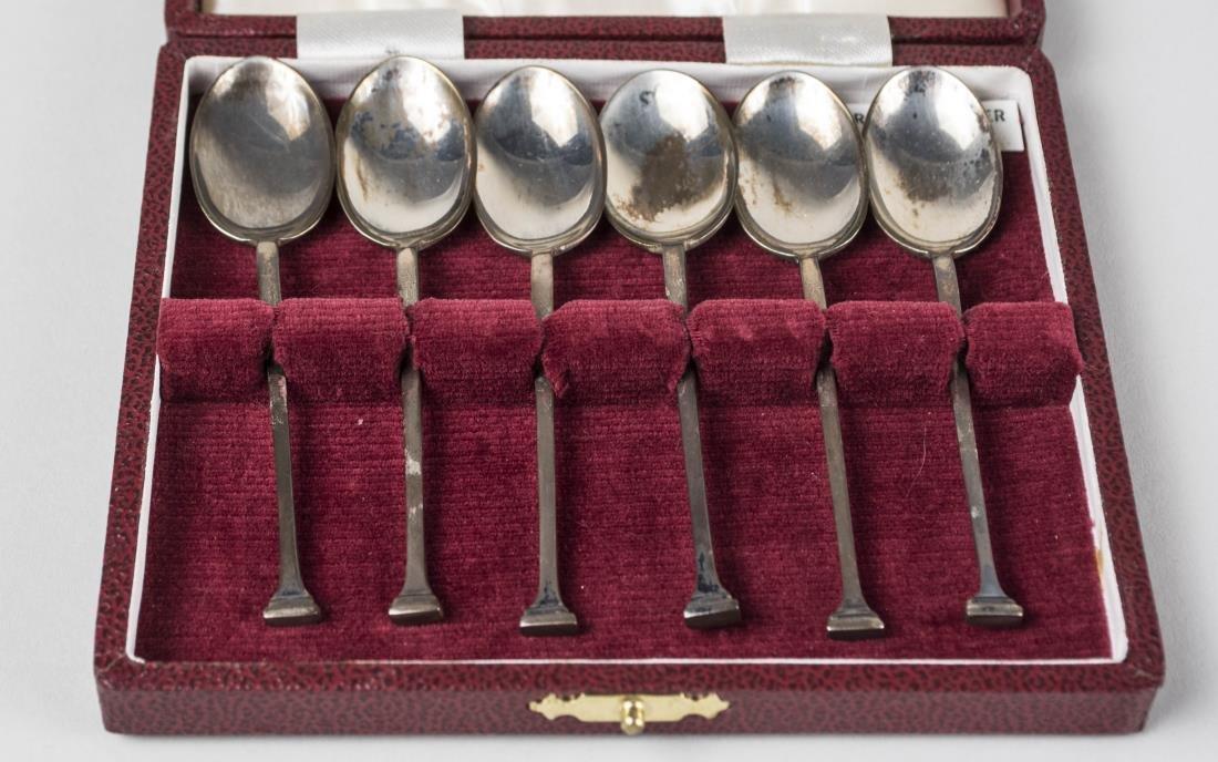 Three English Boxed Sets of Silver Flatware - 3