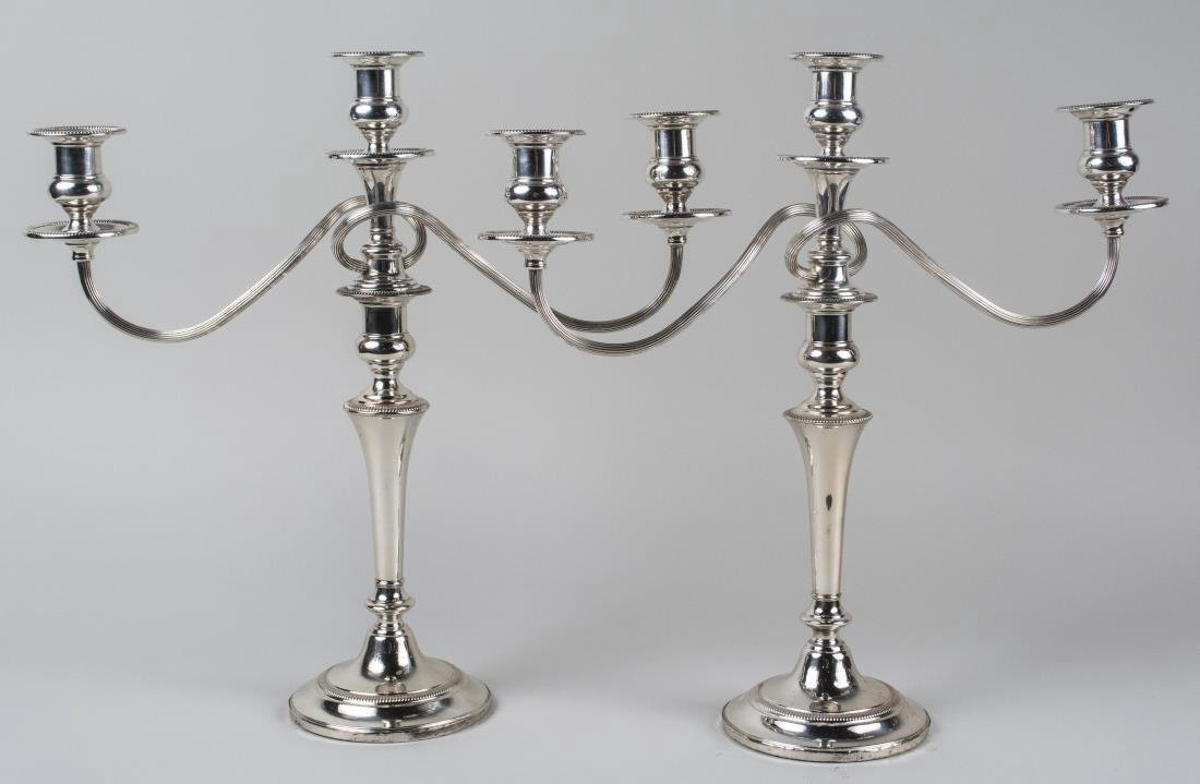 Pair of Fisher Sterling Silver Candelabra