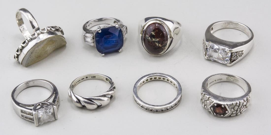 Group of Silver Rings