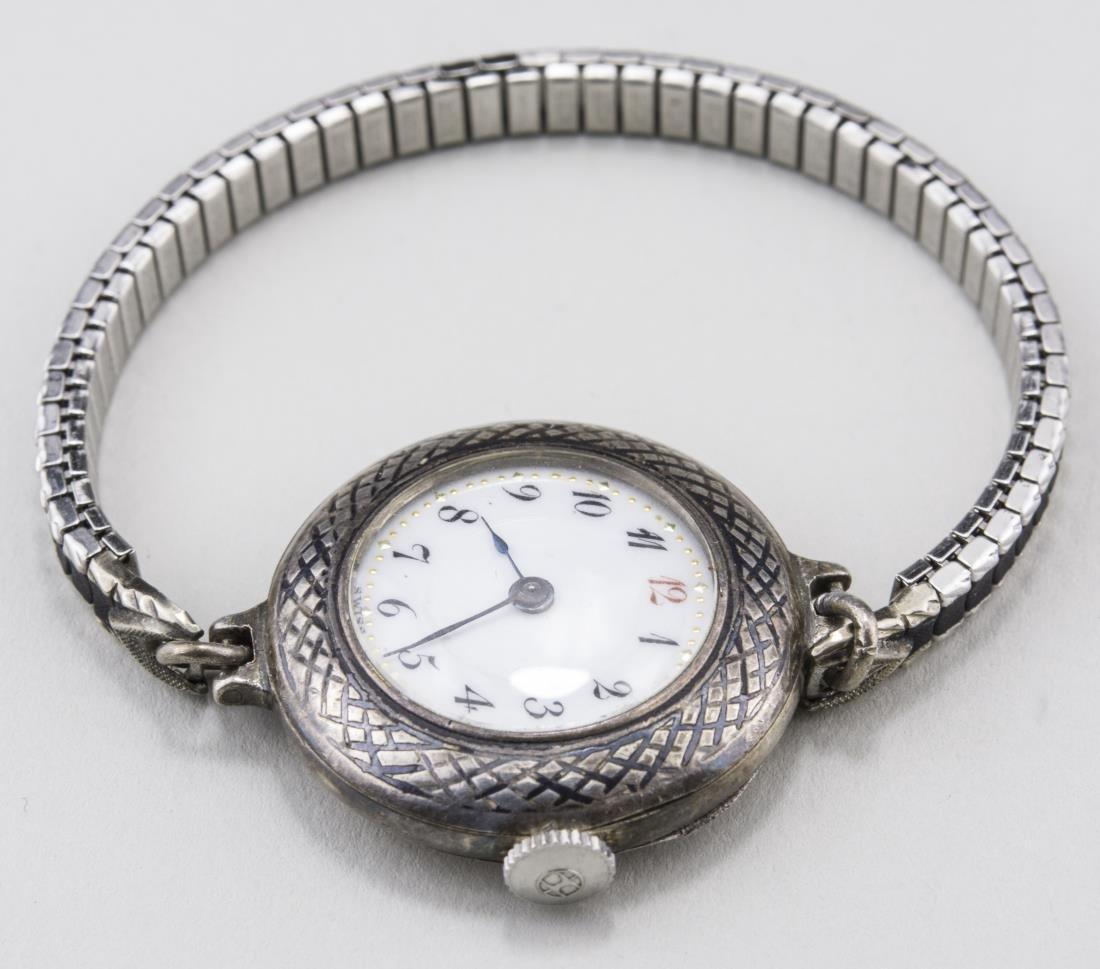 Vintage Lady's Silver Wrist Watch