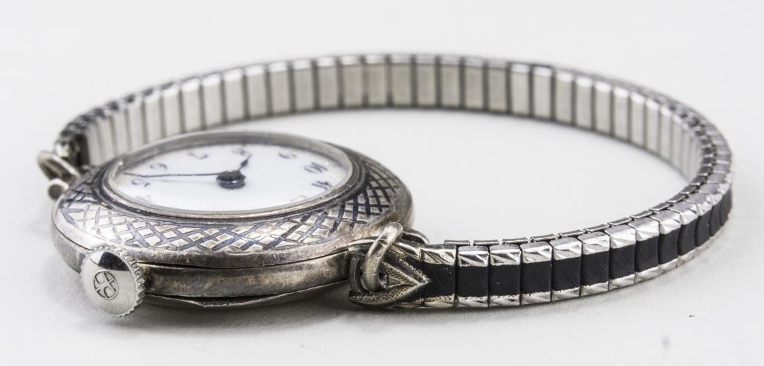 Vintage Lady's Silver Wrist Watch - 2
