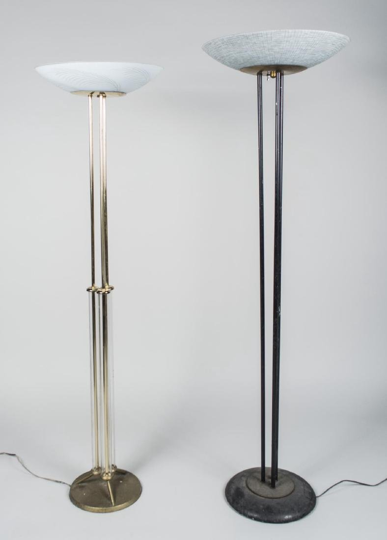 Two Modern Floor Lamps