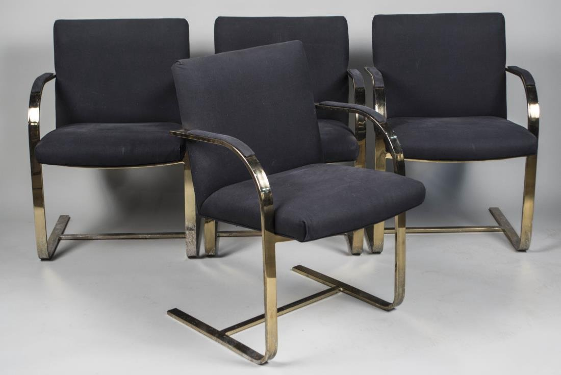 Set of Four Marcel Breuer Style Armchairs
