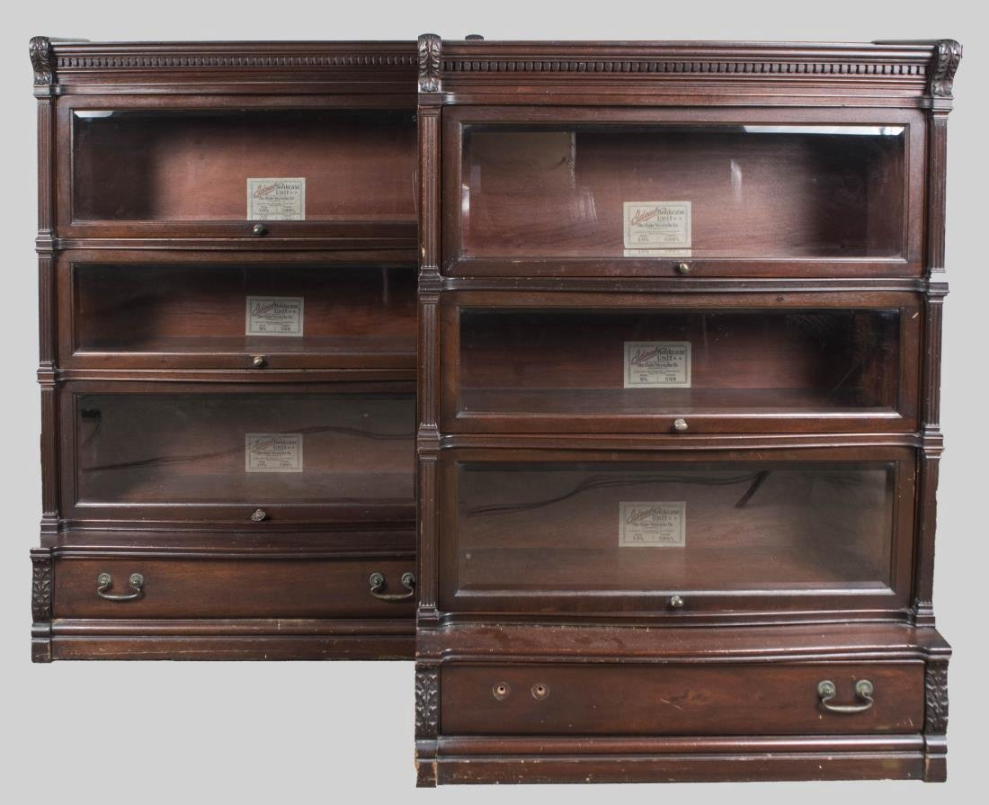 Pair of Globe Wernicke Bookcases