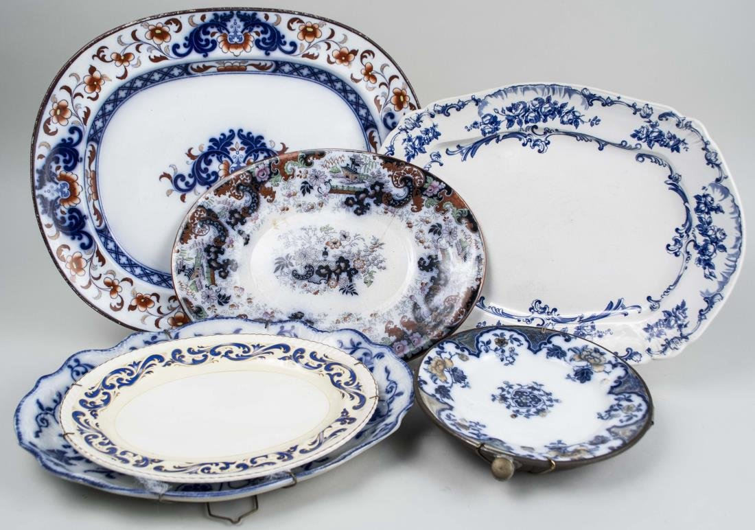Group of Five Vintage Ceramic Platters