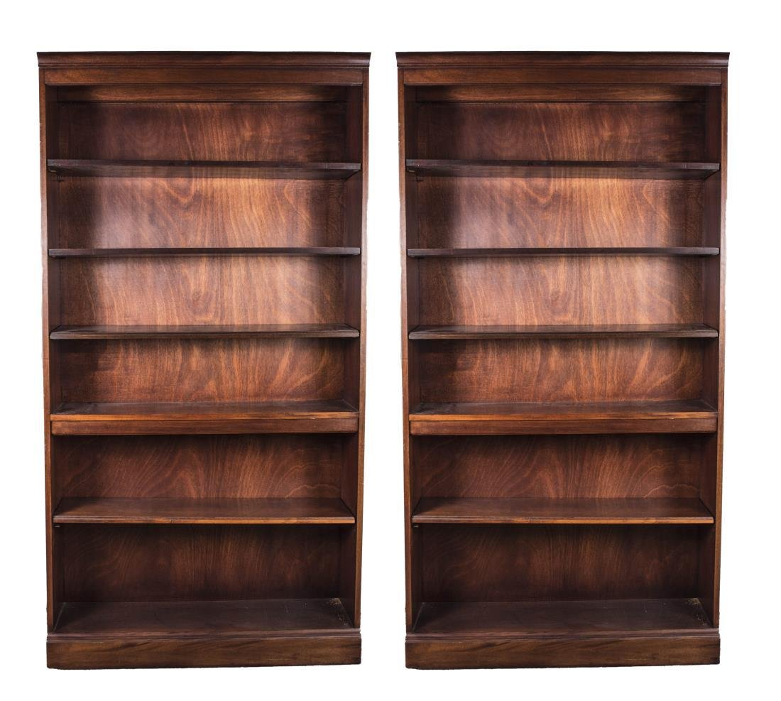 Pair of Hickory Chair Bookcases