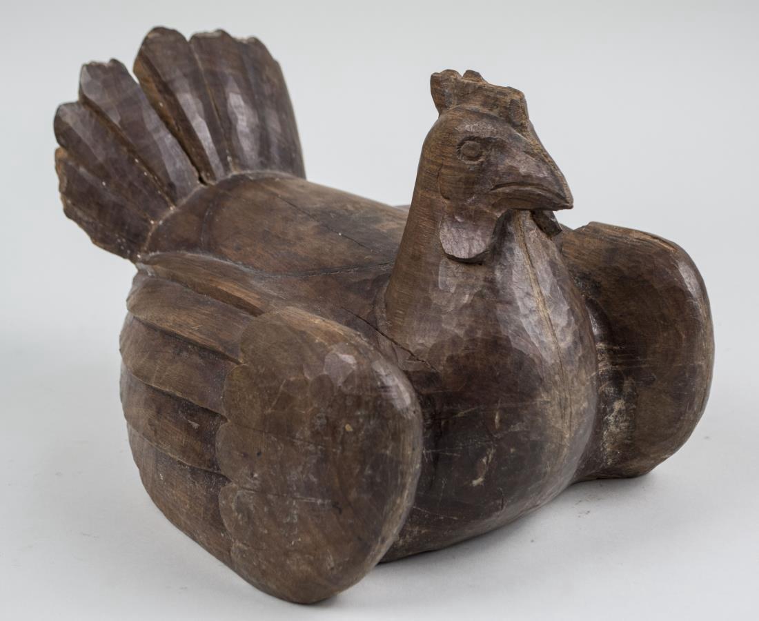 Carved Wood Hen