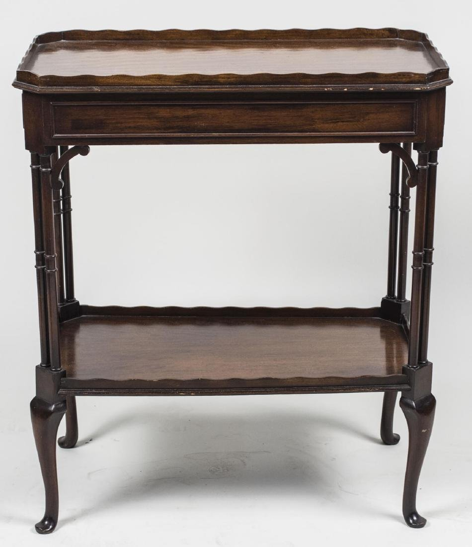 Mahogany Two Tier Side Table
