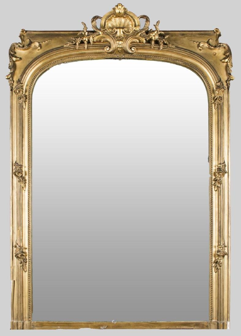 Pair of Neoclassical Style Gilt Wood Mirrors - 2