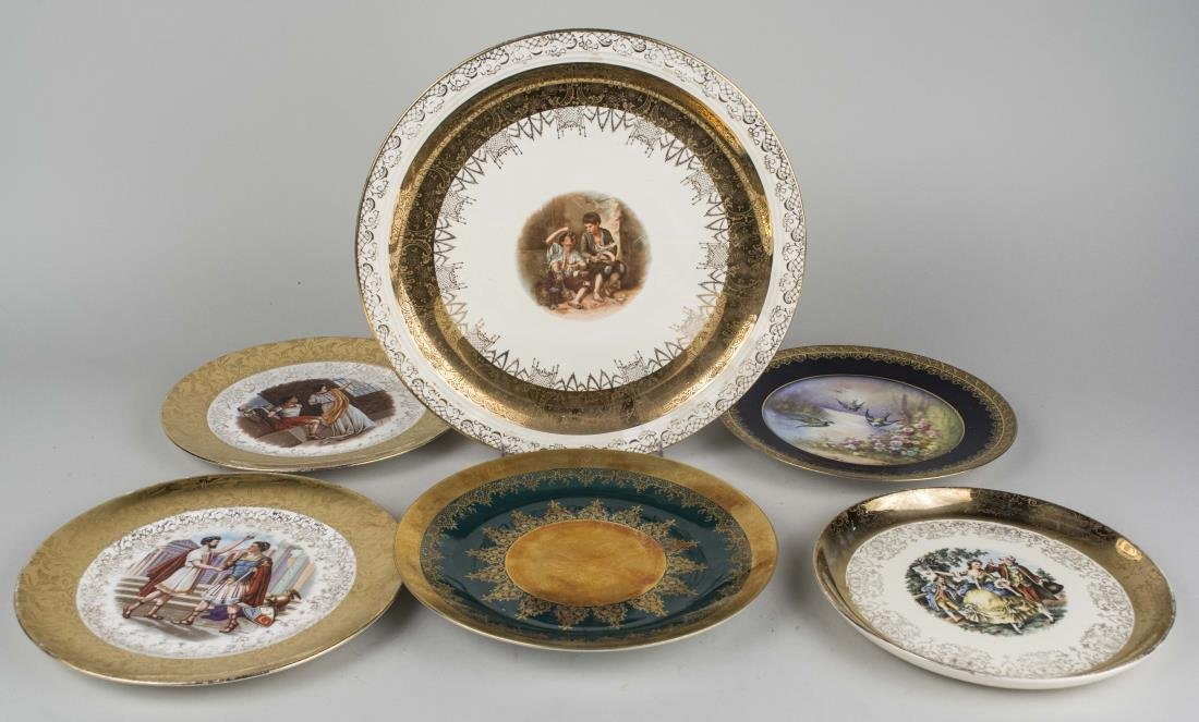 Group of Six Cabinet Plates
