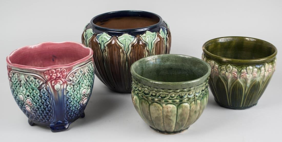 Group of Four Pottery Cachepots