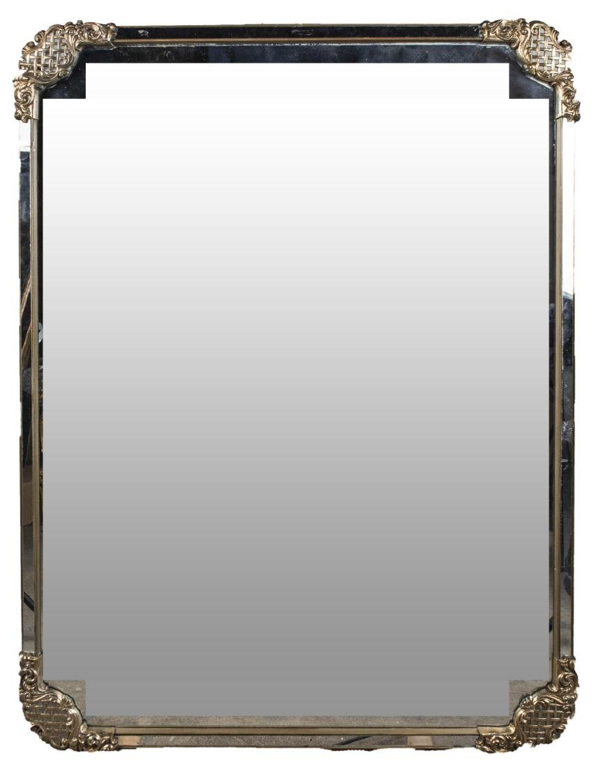 Brass Mounted Mirror Framed Mirror