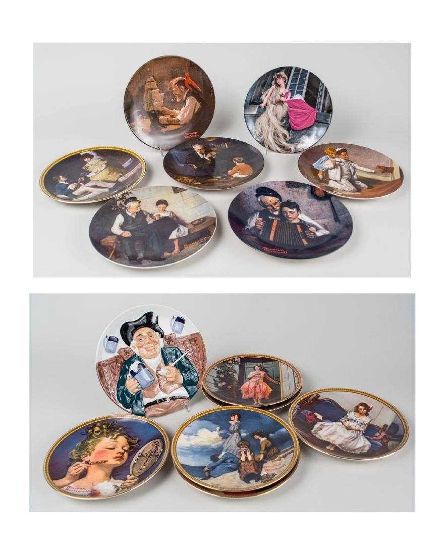 Group of Norman Rockwell Knowels Collectors Plates