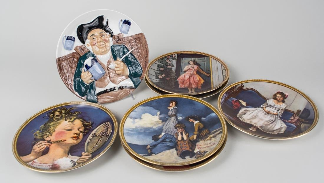 Group of Norman Rockwell Knowels Collectors Plates - 2
