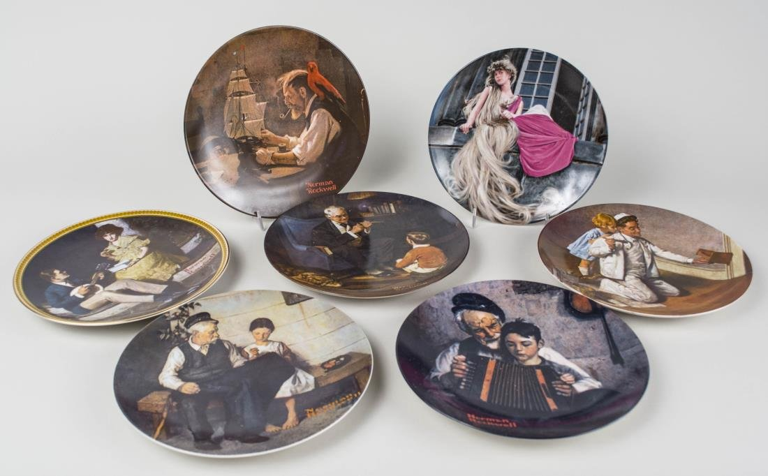 Group of Norman Rockwell Knowels Collectors Plates - 3