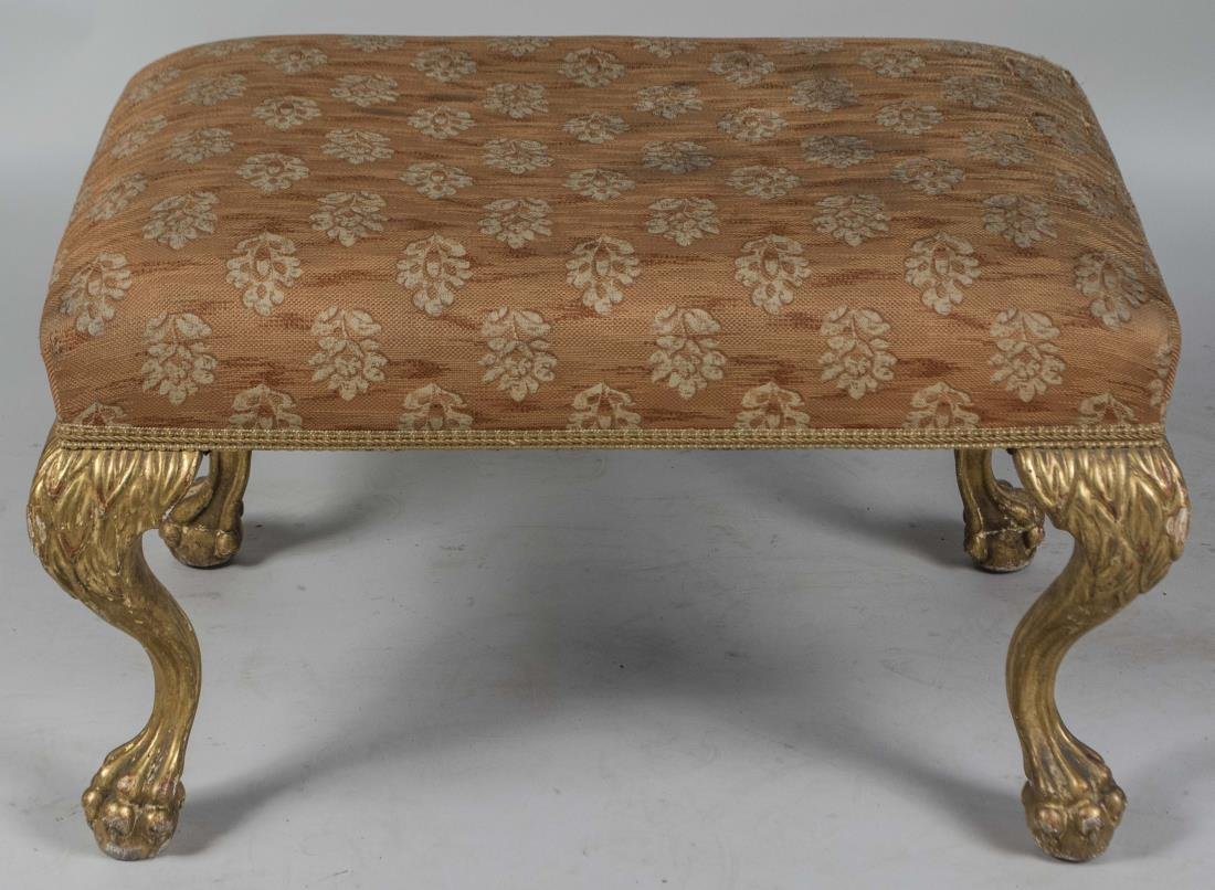 Louis XIV Style Upholstered Footrest