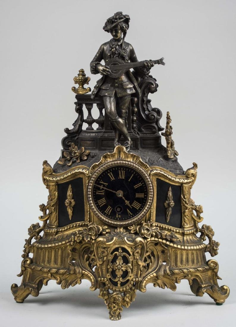 French Brass Figural Clock