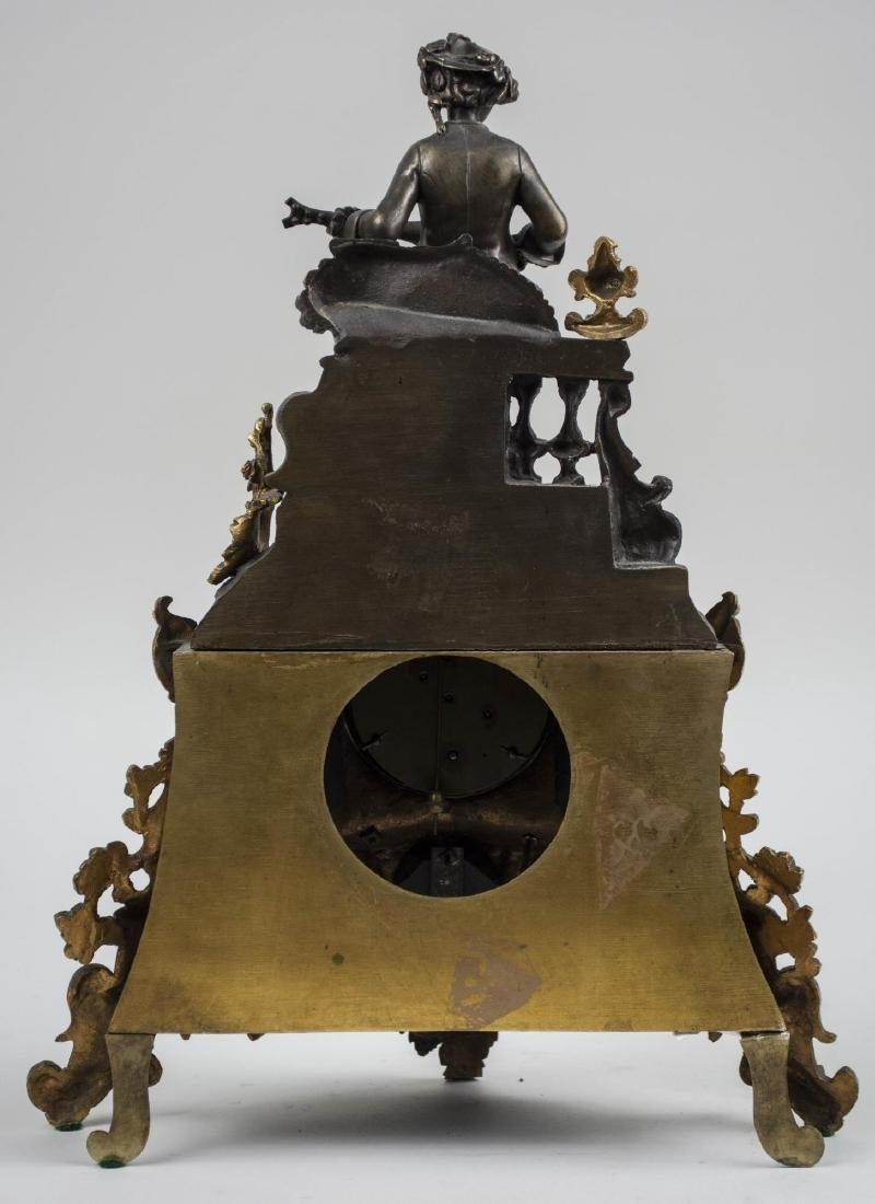 French Brass Figural Clock - 2