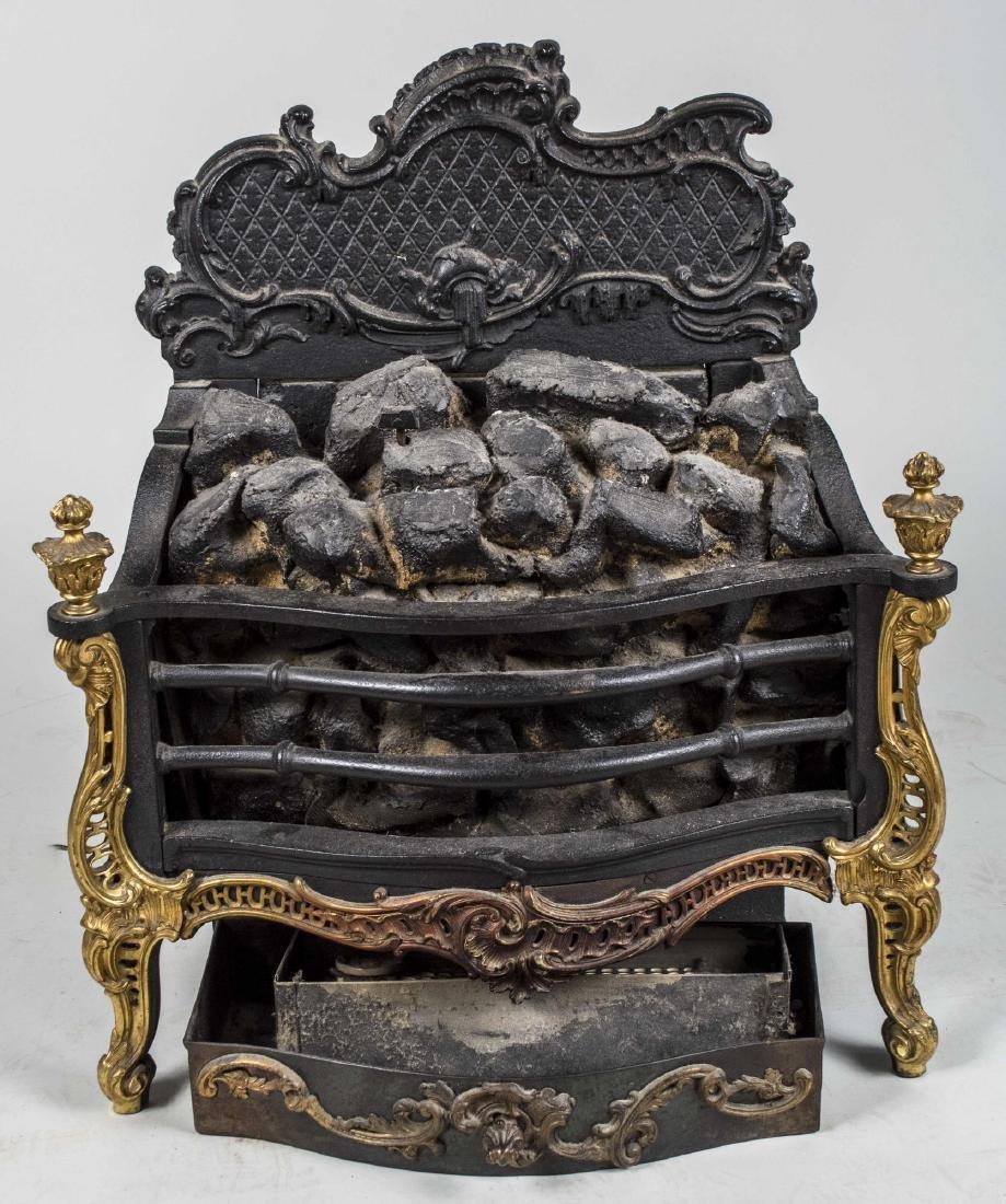 Rococo Style Iron Fire Hearth