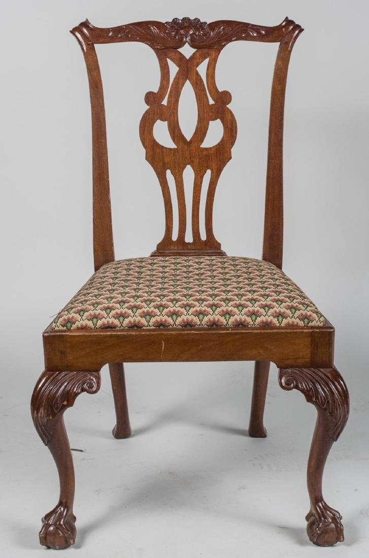 Chippendale Style Mahogany Side Chair - 2