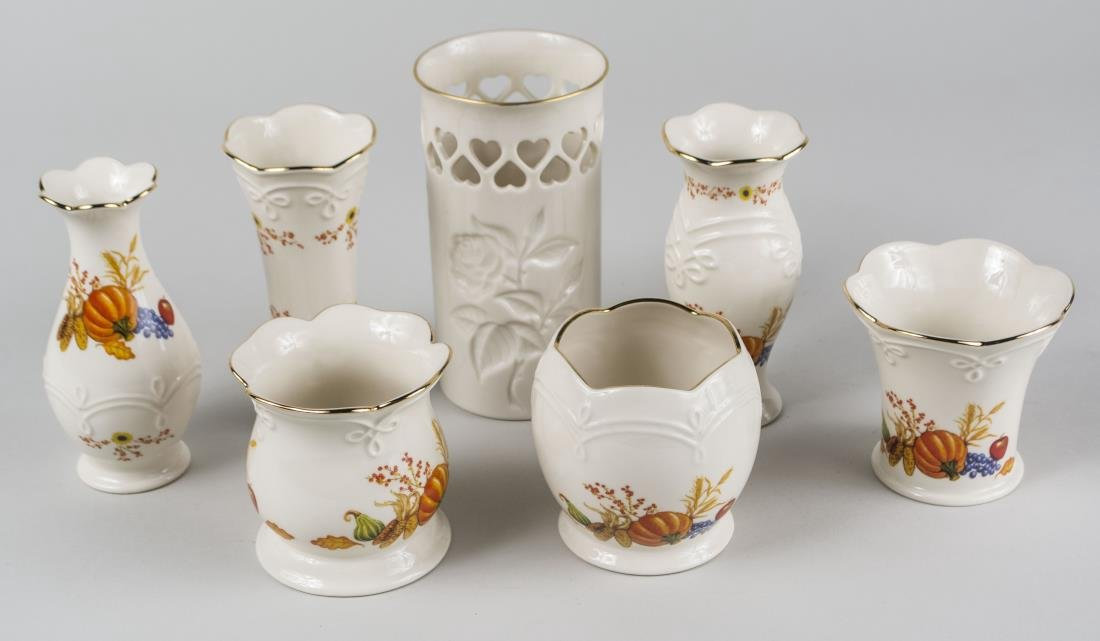 Seven Lenox Porcelain Vases