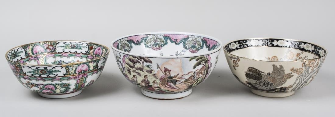 Three Asian Porcelain Bowls