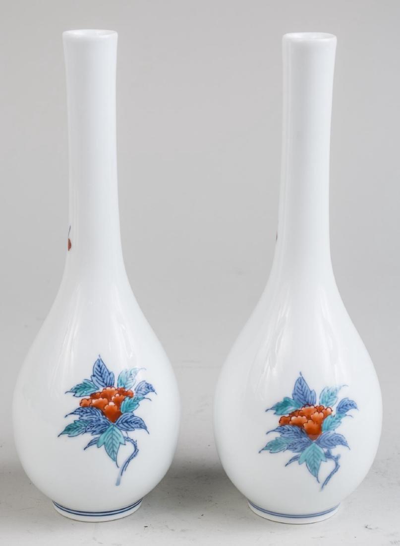 Pair of Japanese Porcelain Vases - 2
